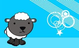 Sweet baby sheep cartoon cute background Royalty Free Stock Photography