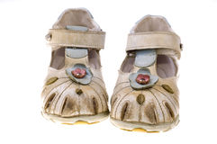 Sweet baby shoes Royalty Free Stock Photo