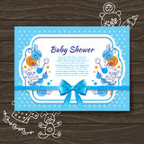 Sweet baby shower invitation Stock Photos
