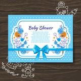 Sweet baby shower invitation stock illustration