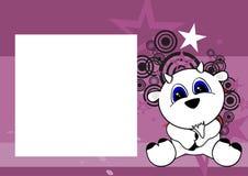 Sweet baby sit goat cartoon frame background Royalty Free Stock Photos