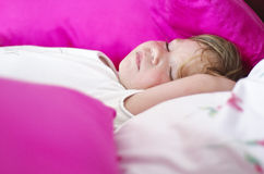 Sweet baby sleeping. Sleeping baby in the afternoon Royalty Free Stock Photos