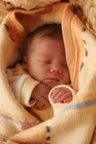 Sweet baby sleeping stock images