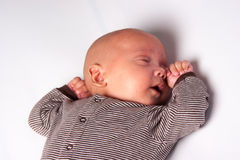 Sweet Baby Sleeping Stock Photo