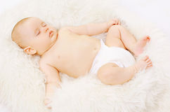 Sweet baby sleeping Royalty Free Stock Images