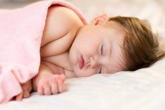 Sweet baby sleeping Stock Photos