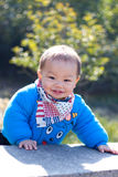 Sweet baby smiling Stock Images