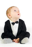Sweet baby in tailcoat Royalty Free Stock Photos