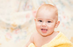 Sweet baby in towel Royalty Free Stock Photo