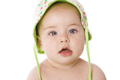 Sweet baby with watering can Stock Photography