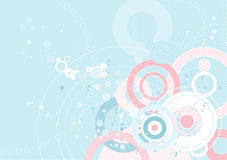 Sweet bachkground,vector. Sweet bachkground with many pink and blue circles,vector illustration Stock Photography