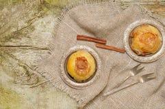 Sweet backed apple with cinnamon Stock Photography