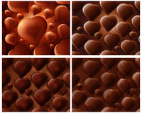 Sweet background 032. Abstract Seamless chocolate fo heart shape background Royalty Free Stock Images