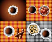 Sweet background 043. Set of seamless chocolate backgrounds Stock Photo