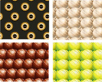 Sweet background 043. Set of seamless chocolate backgrounds Royalty Free Stock Photo