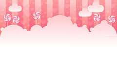 Sweet background. Sweet pink background with lollypops Stock Illustration