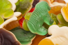 Sweet Background With Assortment of Colorful Jelly candies Stock Photography