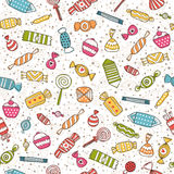 Sweet background. Candy seamless  background with sweet Stock Image
