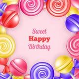 Sweet background happy birthday Stock Images