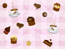 Sweet background. Vector illustration of abstract sweet background Royalty Free Stock Photos