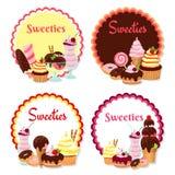 Sweet badges Royalty Free Stock Photo