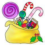 Sweet bag. A sweet bag with sweet and candy Royalty Free Stock Images