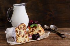 Sweet baked cake Stock Photography