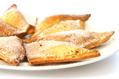 Sweet baked pastry triangles Royalty Free Stock Image
