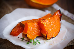 Sweet baked pumpkin Stock Images