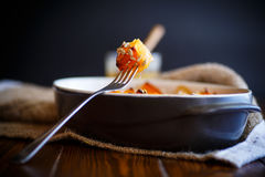 Sweet baked pumpkin with honey Royalty Free Stock Image