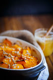 Sweet baked pumpkin with honey Royalty Free Stock Photo