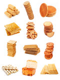 Sweet Bakery Collection. Different sweet bakery set isolated on white background Stock Image