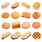 Sweet Bakery Collection. Different sweet bakery set isolated on white background Stock Photos