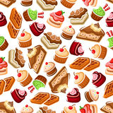 Sweet bakery and pastry pattern Royalty Free Stock Images