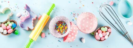 Sweet baking concept for Easter Royalty Free Stock Photos