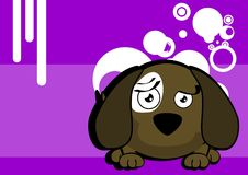 Sweet ball puppy cartoon expression background Stock Photography