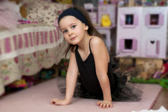 Sweet ballerina girl Royalty Free Stock Photo
