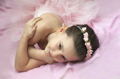 Sweet ballerina girl Royalty Free Stock Image