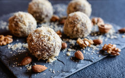 Free Sweet Balls With Walnut, Cocoa And Almond Stock Photo - 82640560