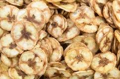 Sweet banana chips Stock Images