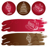 Sweet  banners Royalty Free Stock Photography