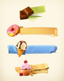 Sweet banners, vector illustration Stock Photo