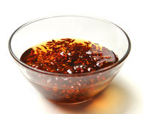 Sweet barberry jam in the transparent glass bowl with honey Royalty Free Stock Photos