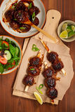 Sweet BBQ Meatballs Royalty Free Stock Photos