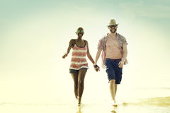 Sweet Beach Summer Holiday Couple Love Concept Royalty Free Stock Images