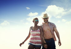 Sweet Beach Summer Holiday Couple Love Concept Stock Photo