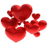 Sweet beautiful hearts Stock Photo