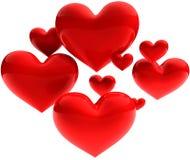 Sweet beautiful hearts Royalty Free Stock Image