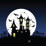 Sweet and beauty castle with bats vector part four Stock Photography