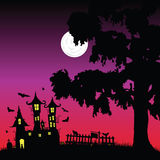 Sweet and beauty castle with bats vector part three Stock Image